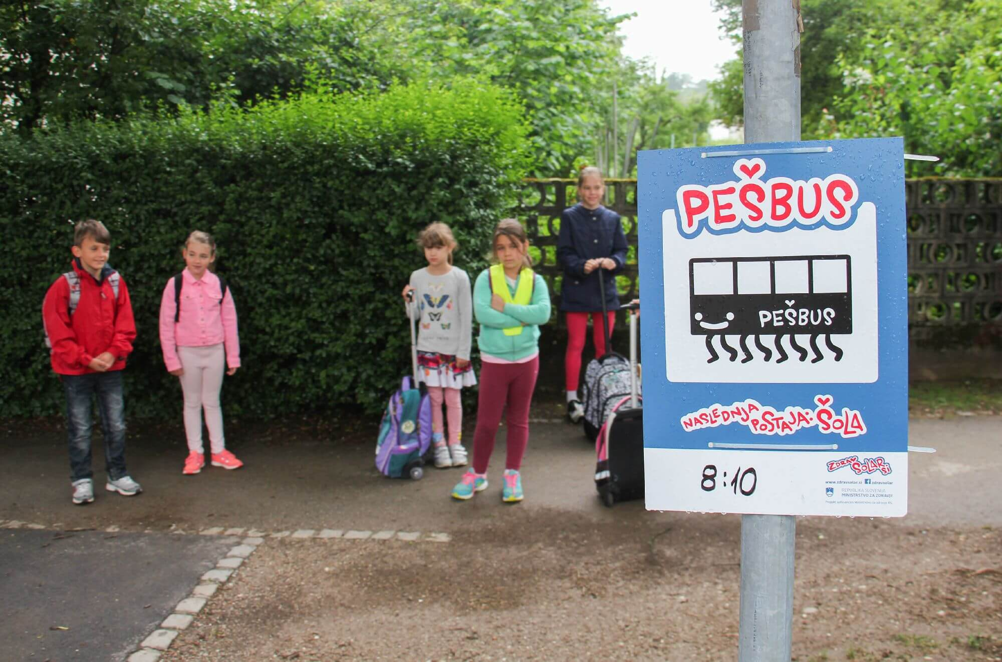 Aktivno v šolo s Pešbusom in Bicivlakom