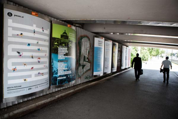 Pop-up razstava izbranih plakatov Mesta pešcem! v Ljubljani