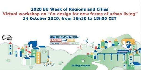Pridružite se nam na delavnici o novih oblikah urbanega življenja v sklopu Evropskega tedna regij in mest 2020