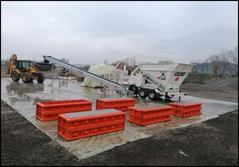 Mesta mestom: Pilotna proizvodnja sekundarnih gradbenih materialov